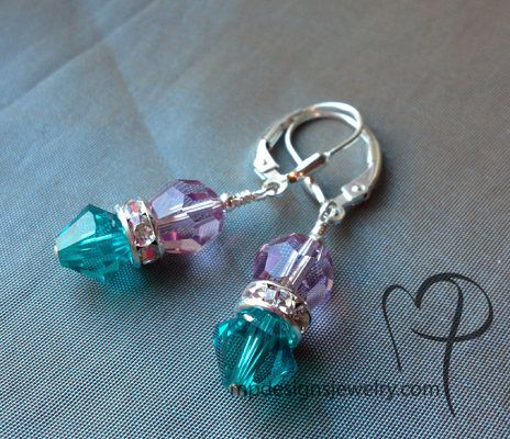 Custom Swarovski Crystal Mother's Day Earrings