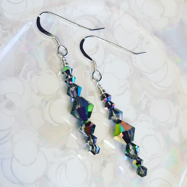 Sparkle & Shine ~ Swarovski Crystal Sterling Silver Earrings