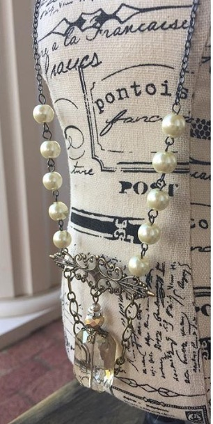 High Tea Pearl Crystal Necklace