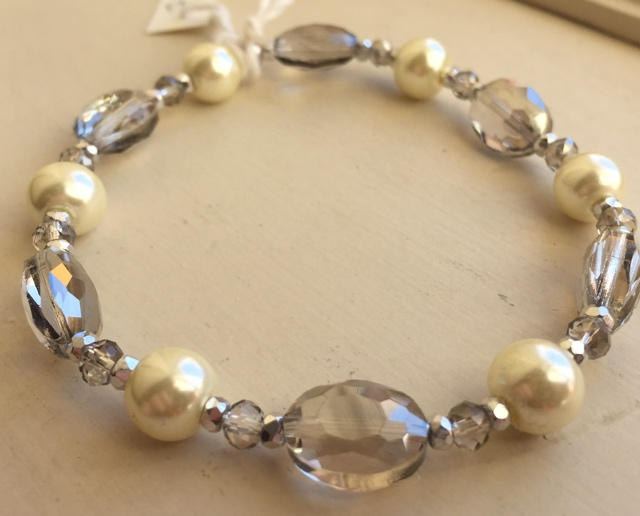 High Tea Pearl Crystal 2 Stretch Bracelet
