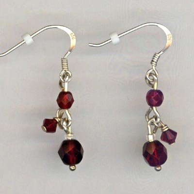 Red Crystal dangles
