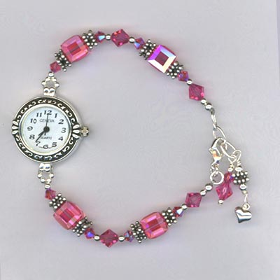 rose crystal cube watch