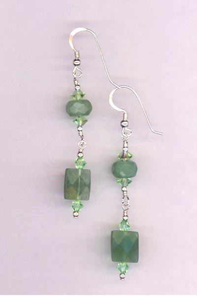 avertine chyrsolite earrings