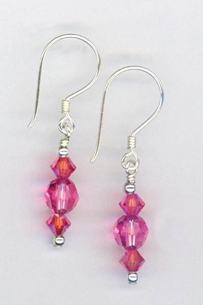 Luscious Rose Earrings