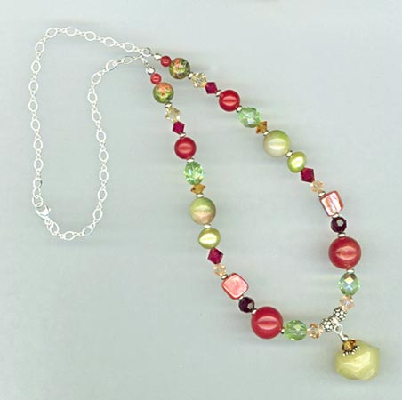 fruit cocktail necklace