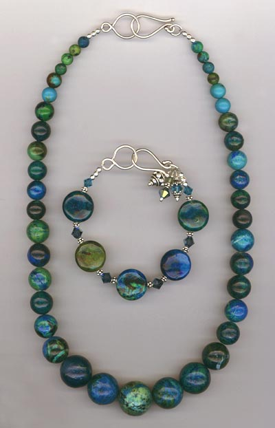 Big Bold Blue Necklace