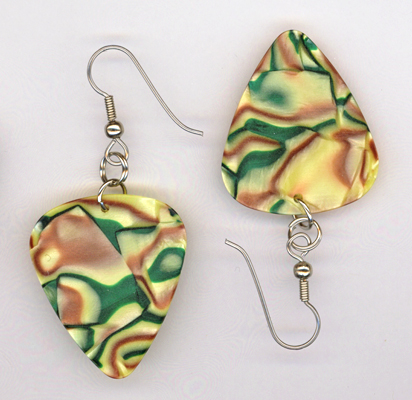 green brown swirl gp earrings