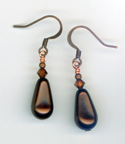 copper choc earrings