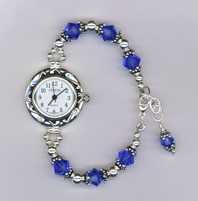 sapphire blue crystal watch