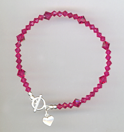 fuchsia toggle bracelet