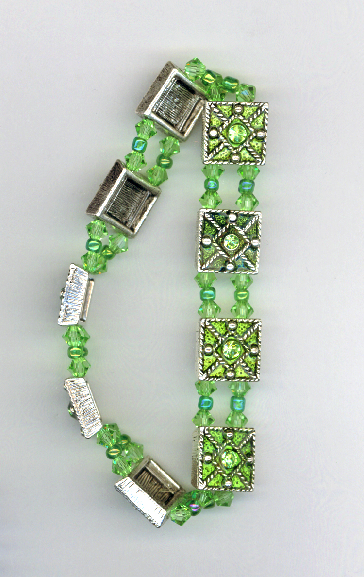 peridot stretch slider bracelet
