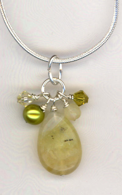 Lemon and Lime Jade Crystal Necklace
