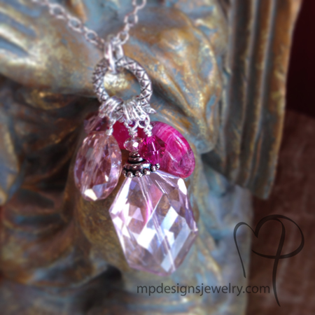 Pink Explosion! Charm Necklace