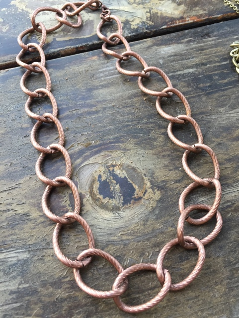 Copper Chunky Link Chain Necklace